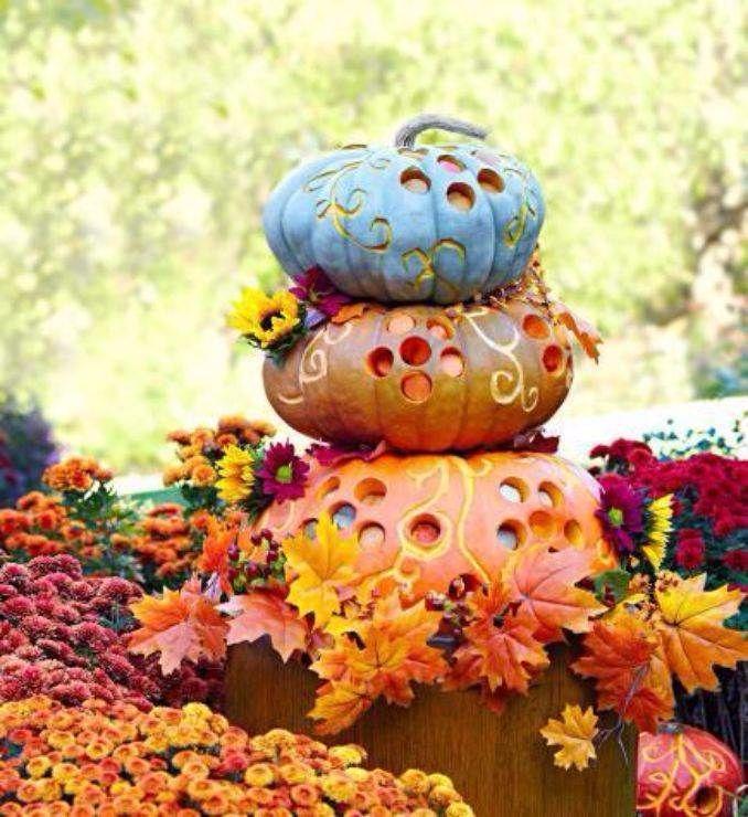 Amazing Pumpkin Centerpieces (1)