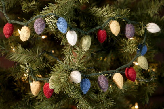 Christmas Decor – Knit Christmas Tree Ornament craft ideas.   (11)_resize