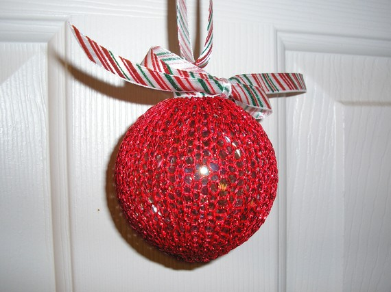 Christmas Decor – Knit Christmas Tree Ornament craft ideas.   (14)