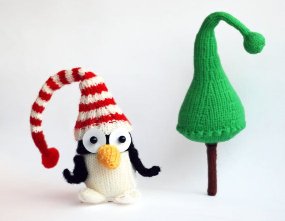 Christmas Decor – Knit Christmas Tree Ornament craft ideas.   (21)