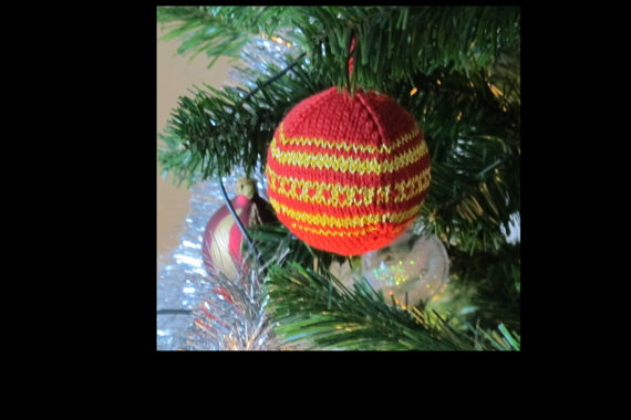 Christmas Decor – Knit Christmas Tree Ornament craft ideas.   (25)