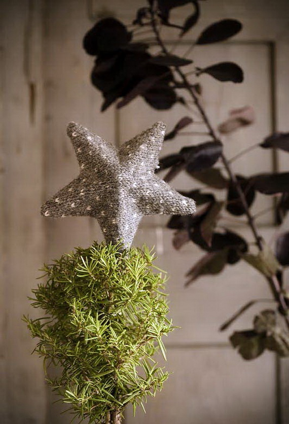 Christmas Decor – Knit Christmas Tree Ornament craft ideas.   (4)_resize