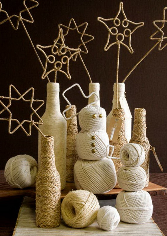 Christmas Decor – Knit Christmas Tree Ornament craft ideas.   (6)_resize