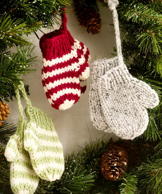 Christmas Decor – Knit Christmas Tree Ornament craft ideas.   (7)_resize