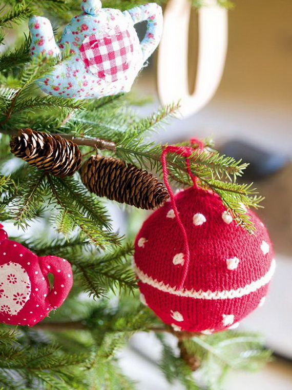 Christmas Decor – Knit Christmas Tree Ornament craft ideas.   (9)_resize