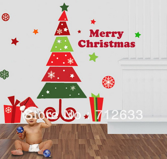 Christmas Decoration Ideas for Kids Room - Wall Decals_01