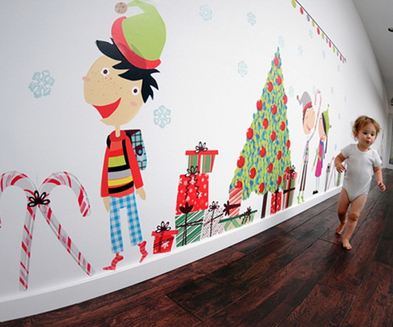 Christmas Decoration Ideas for Kids Room - Wall Decals_08