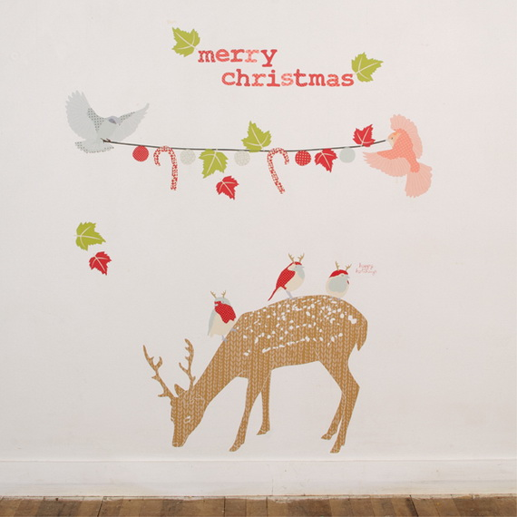 Christmas Decoration Ideas for Kids Room - Wall Decals_13