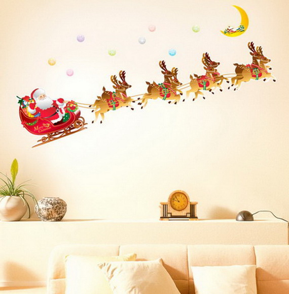 Christmas Decoration Ideas for Kids Room - Wall Decals_16