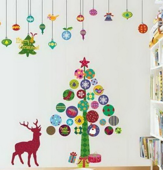 Christmas Decoration Ideas for Kids Room - Wall Decals_25