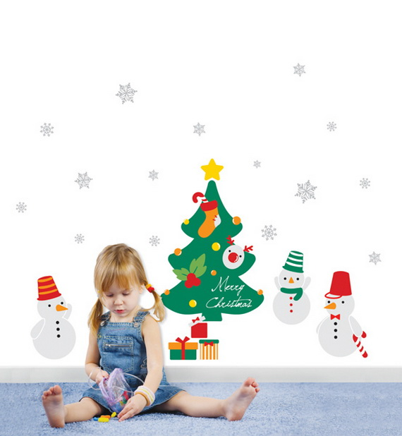 Christmas Decoration Ideas for Kids Room - Wall Decals_27