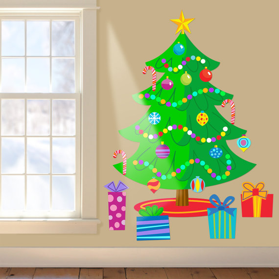Christmas Decoration Ideas for Kids Room - Wall Decals_38