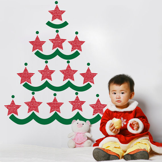 Christmas Decoration Ideas for Kids Room - Wall Decals_39