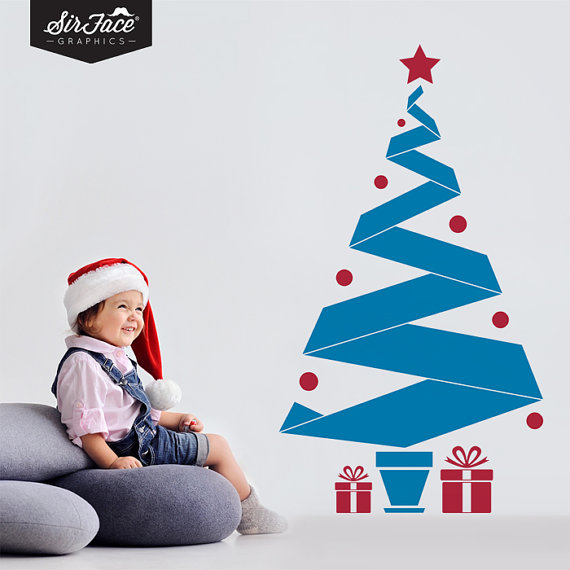 Christmas Decoration Ideas for Kids Room - Wall Decals_41