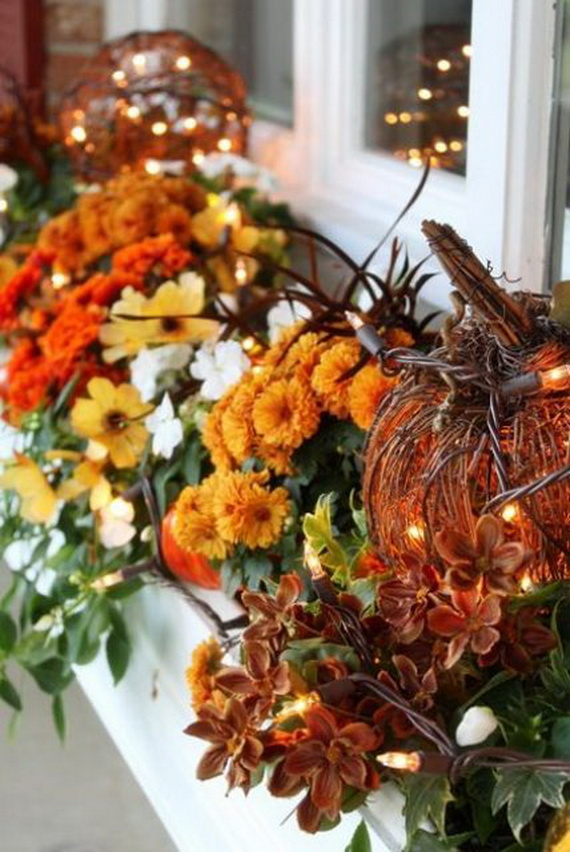 Cool Fall Flower Centerpiece and Flower Table  (15)