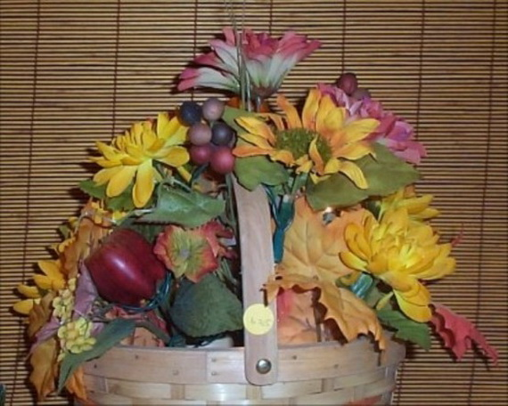 Cool Fall Flower Centerpiece and Flower Table  (16)