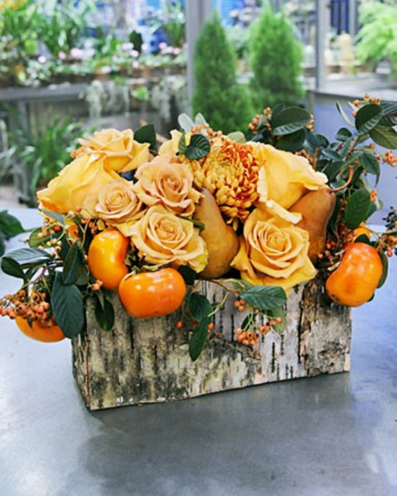 Cool Fall Flower Centerpiece and Flower Table  (17)
