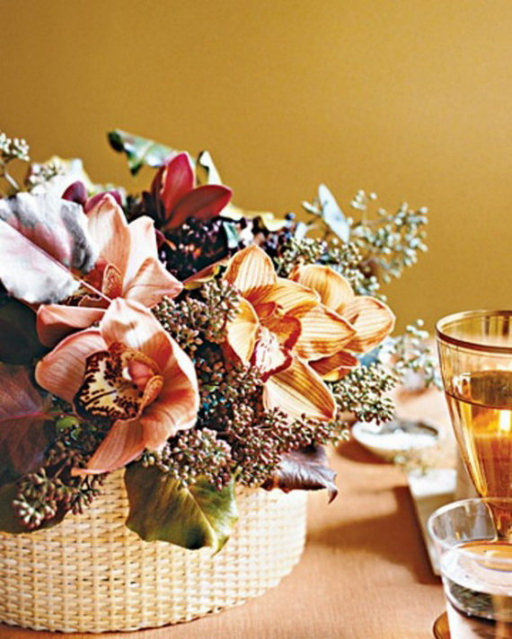 Cool Fall Flower Centerpiece and Flower Table  (19)