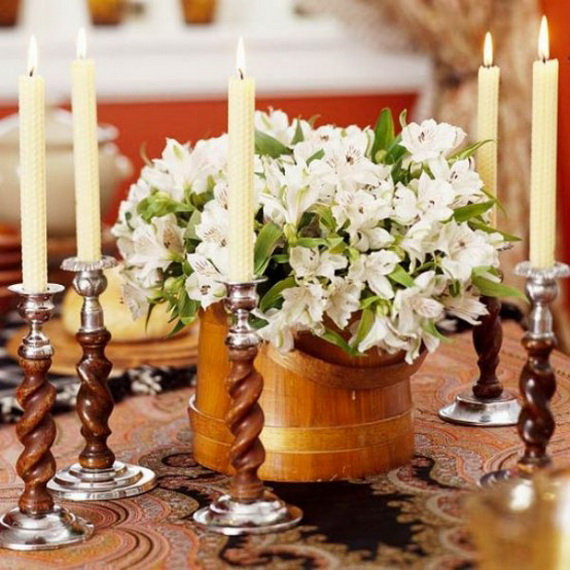 Cool Fall Flower Centerpiece and Flower Table  (23)