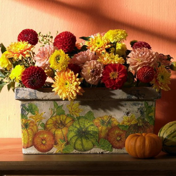 Cool Fall Flower Centerpiece and Flower Table  (25)