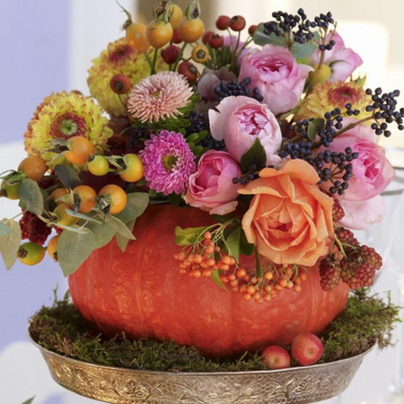 Cool Fall Flower Centerpiece and Flower Table  (26)