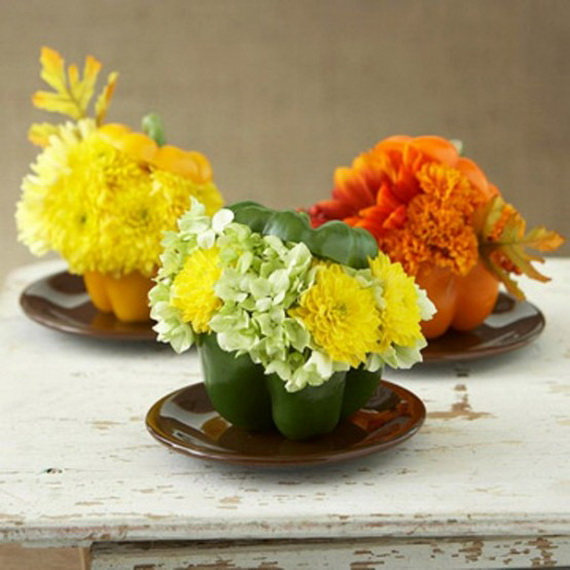 Cool Fall Flower Centerpiece and Flower Table  (32)