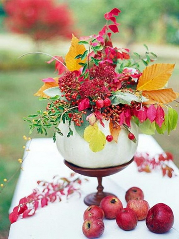 Cool Fall Flower Centerpiece and Flower Table  (33)