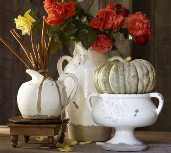 Cool Fall Flower Centerpiece and Flower Table  (38)