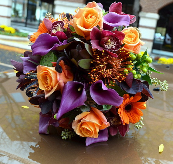 Cool Fall Flower Centerpiece and Flower Table  (4)
