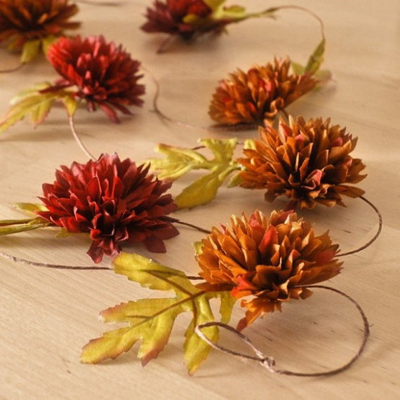 Cool Fall Flower Centerpiece and Flower Table  (42)