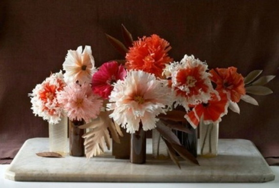 Cool Fall Flower Centerpiece and Flower Table  (45)