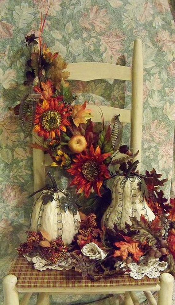 Cool Fall Flower Centerpiece and Flower Table  (46)