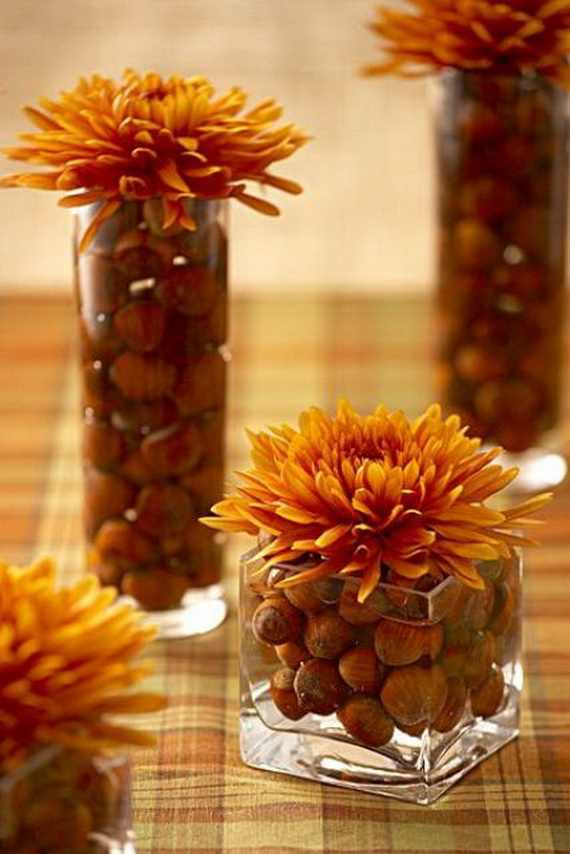 Cool Fall Flower Centerpiece and Flower Table  (47)