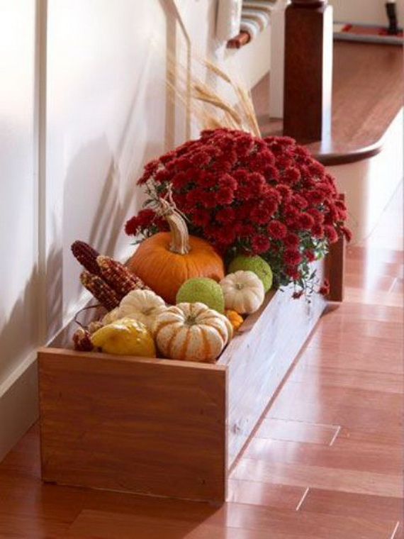 Cool Fall Flower Centerpiece and Flower Table  (48)