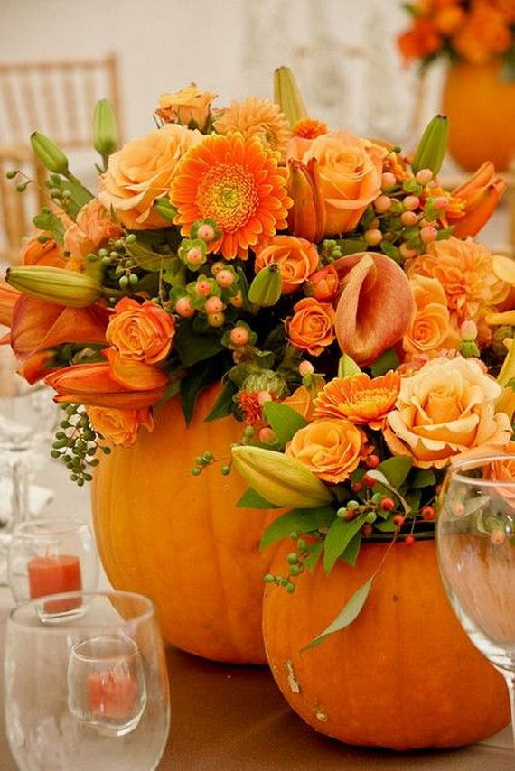 Cool Fall Flower Centerpiece and Flower Table  (49)