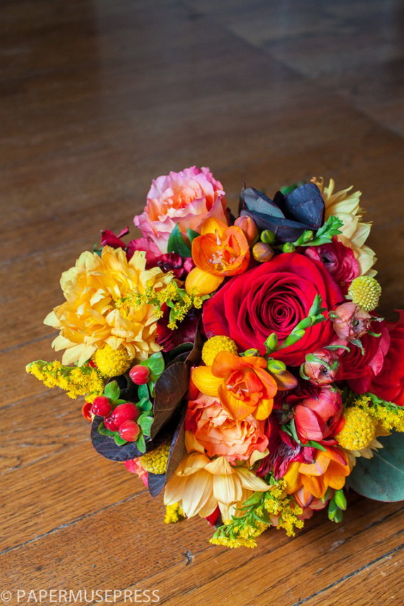 Cool Fall Flower Centerpiece and Flower Table  (58)