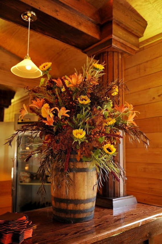 Cool Fall Flower Centerpiece and Flower Table  (59)