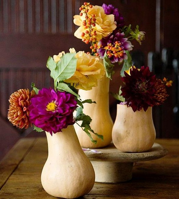 Cool Fall Flower Centerpiece and Flower Table  (61)
