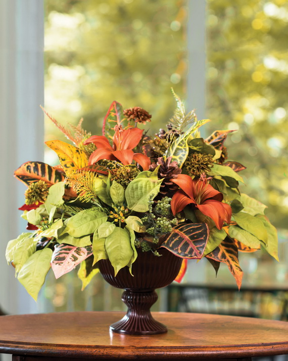 Cool Fall Flower Centerpiece and Flower Table  (67)