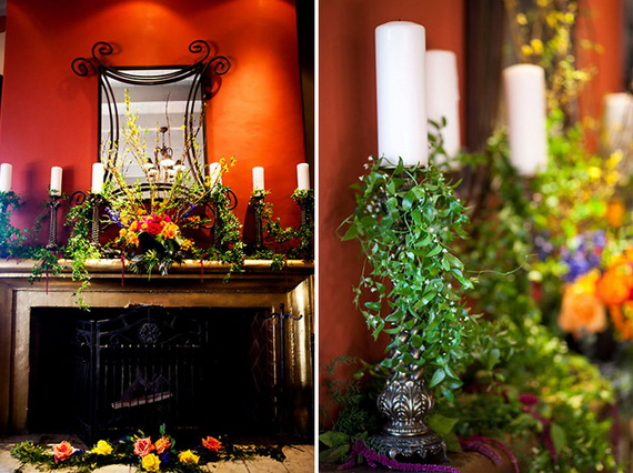 Cool Fall Flower Centerpiece and Flower Table  (84)