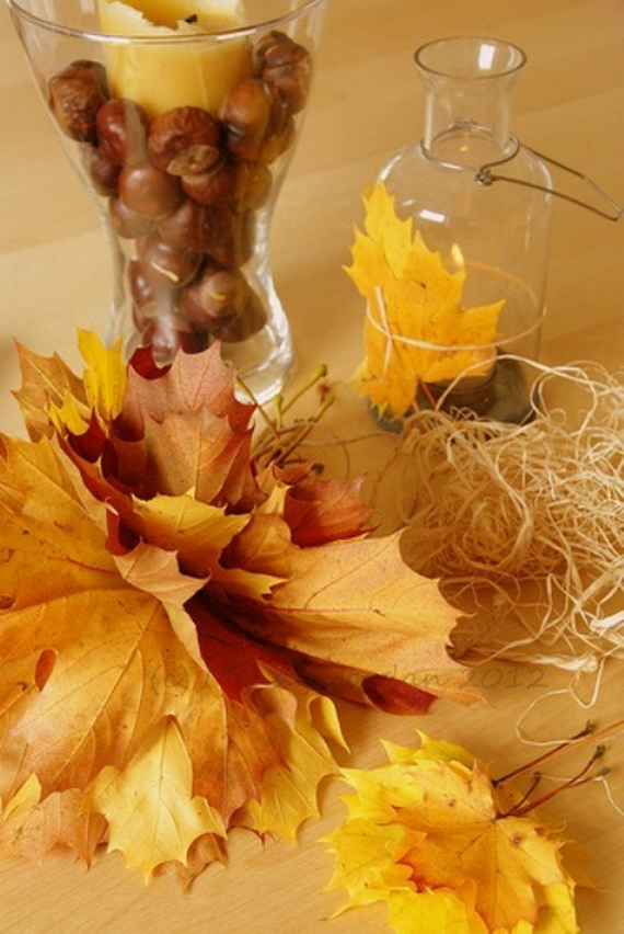 Easy Ways Using Autumn Leaves _43