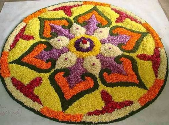 Indian Floral Design For Onam Festival (11)