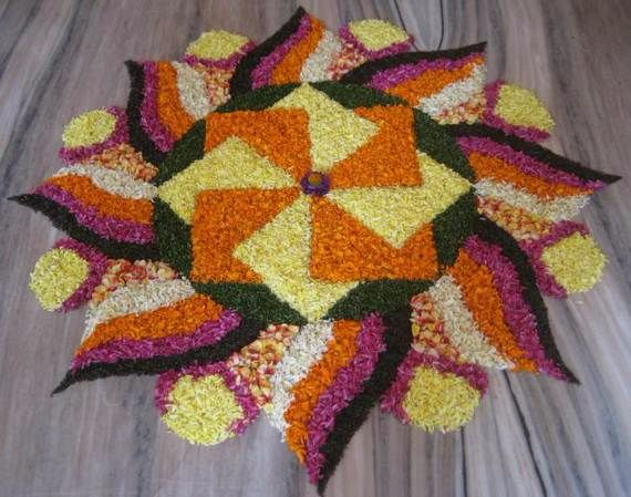 Indian Floral Design For Onam Festival (12)
