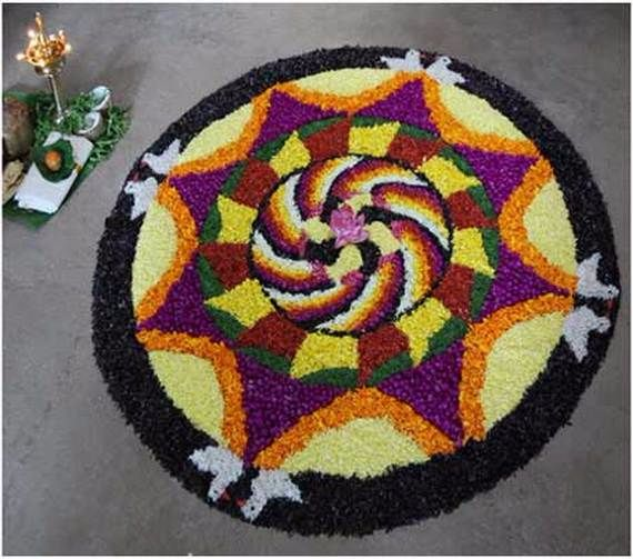 Indian Floral Design For Onam Festival (13)