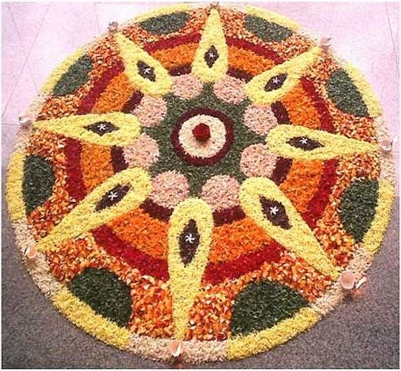 Indian Floral Design For Onam Festival (16)