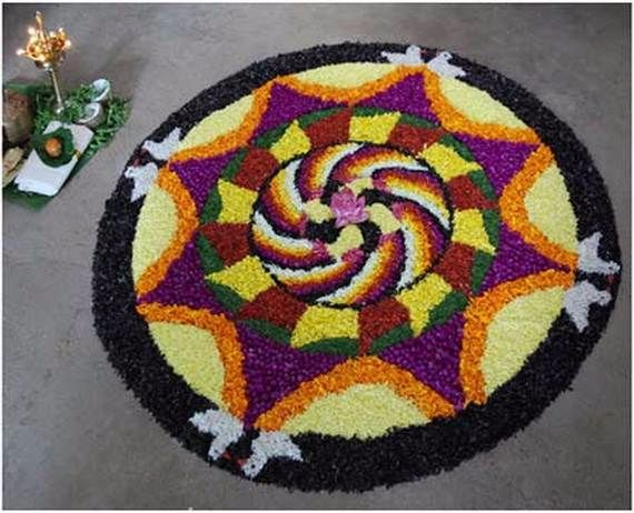 Indian Floral Design For Onam Festival (18)