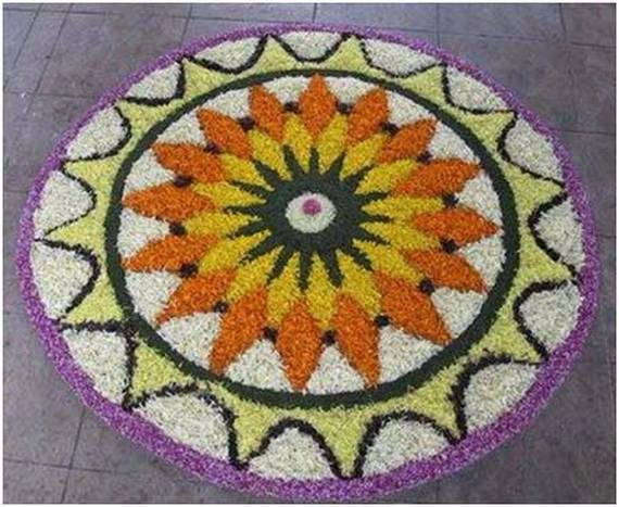 Indian Floral Design For Onam Festival (19)