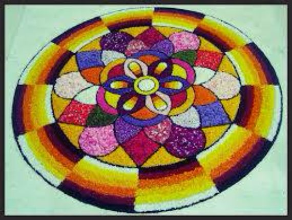 Indian Floral Design For Onam Festival (2)