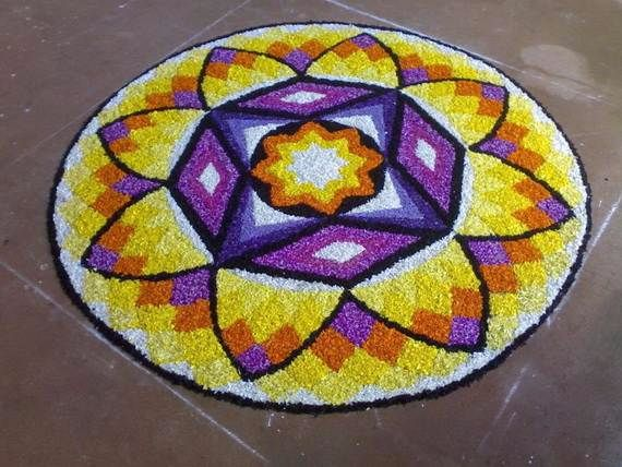 Indian Floral Design For Onam Festival (20)