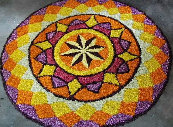 Indian Floral Design For Onam Festival (22)
